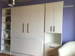 white double vertical murphy bed