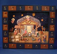 nativity advent calendar wood and magnetic nativity advent calendar yonder christmas