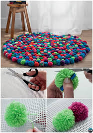 Pom Pom Rug Instructions 20 No Crochet Diy Rug Ideas Projects Instructions