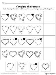 preschool patterns printable worksheets myteachingstation com