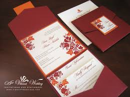 amazing of fall wedding invitations packages fall wedding