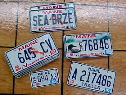 maine license plates for sale