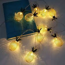 Decor Lights Home Decor Iron Golden Pineapple String Lights Fairy Led Home Decor Light