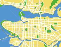 Map Vancouver Canada by Vector Pattern City Map Of Vancouver Canada Royalty Free
