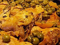 cuisine marocaine poulet aux olives recette du poulet aux olives et citron confit a la marocaine