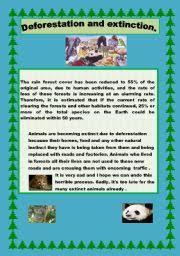 worksheet deforestation and extinction