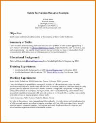 Maintenance Technician Resume Resume Cable Technician Resume