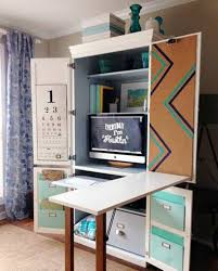 computer hutches and desks reclaimed computer armoire with folding table and desk computer