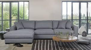 canaper conforama canapé d angle gauche fixe 5 places winson coloris gris prix promo