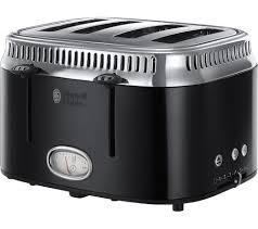 Toaster Retro Buy Russell Hobbs Retro 21691 4 Slice Toaster Black Free