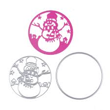 snowman circle metal steel cutting dies stencil for christmas