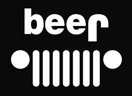 jeep beer tire cover jeep funny beer die cut vinyl decal sticker 6 white antonio c
