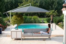 swimming pool table set with umbrella outdoor and patio modern outdoor cantilever umbrella with black