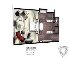 Hotel Guest Room Floor Plans by King Guestroom Key Plan For Four Seasons Hotel Guangzhou Designed