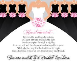 bridal lunch invitations bridesmaid luncheon etsy