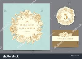 Guest Invitation Card Set Backgrounds Celebrate Wedding Invitation Card Stock Vector