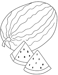 free printable coloring page and clipart fresh watermelon