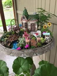magical lights in the fairy garden solar fairy and plants
