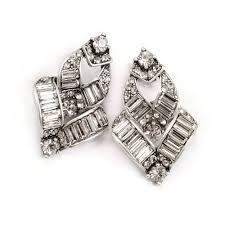 sweet earrings deco vee baguette earrings wedding and bridal