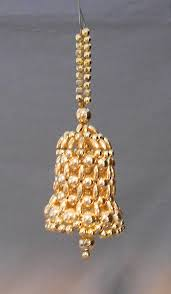 vintage bell shaped beaded ornament in ornaments other