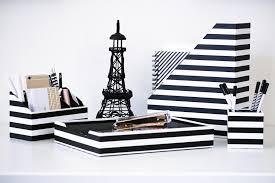 Black And White Desk Accessories Black And White Desk Organizer 4 Desk Accessories Set