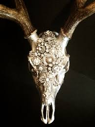 Deer Antler Decorations For Christmas by Embellished Deer Skull By Molliepdesigns On Etsy I Could So Do
