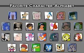 Alphabet Meme - favorite character alphabet meme by fluidgirl82 on deviantart