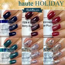 gelish haute holiday collection swatches u0026 color comparisons