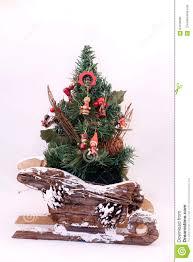 tree on a sleigh stock illustration image 64169005