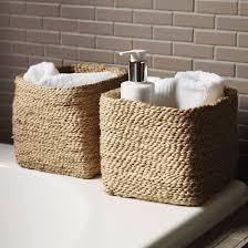 bathroom winning small jute storage basket in natural chromo