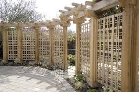 Trellis Seattle Tampa Trellis Fence Panels Landscape Tropical With Hardscape