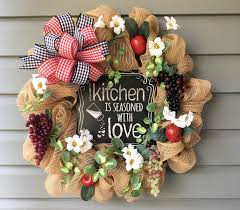 Grape Kitchen Decor by Kitchen Wreath Country Wreath Apple Grape Wreath Kitchen Decor
