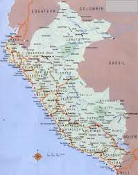Peru On Map Large Detailed Road Map Of Peru With Airports Peru Large Detailed