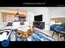 w residences fort lauderdale living las olas