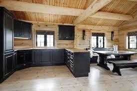 black kitchen cabinets in log cabin 23 log homes ideas log homes log cabin homes cabin homes