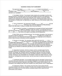 sample business consulting agreement template 7 free documents