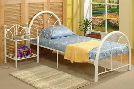 small white metal twin bed frame chic white metal twin bed frame