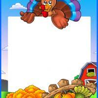 thanksgiving turkey stationery