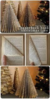 how to make a paperback christmas tree christmas tree books