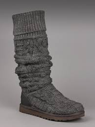 ugg australia womens the knee twisted cable boot in charcoal