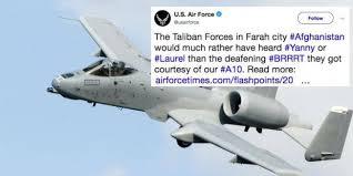 Meme To - us air force deletes tweet using yanny or laurel meme to joke