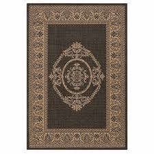 All Weather Outdoor Rugs Home Decorators Collection Antique Medallion Grey Chagne 5 Ft