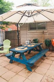 this old house picnic table diy stained and stenciled picnic table my old kentucky house blog