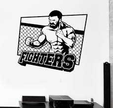 online get cheap martial arts stickers aliexpress com alibaba group home decoration fashion wall vinyl sticker martial arts fighter sports fan for men gym decal removable