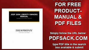 jeep 2006 liberty owners manual video dailymotion