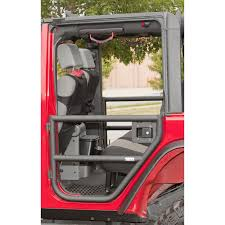 jeep jku half doors rugged ridge 11509 11 rear tube doors textured black 07 15 jeep