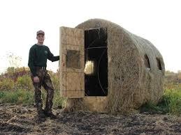 Redneck Hay Bale Blind Jason Combs Shows Off His Deer Blind Near New London Stuff I