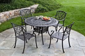 black metal patio table