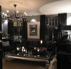 all black furniture in dark living room iamlexlethal interior