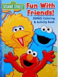 sesame street jumbo coloring u0026 activity book happy birthday